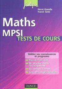 Maths MPSI : tests de cours