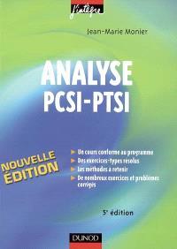 Analyse PCSI-PTSI : cours, méthodes et exercices corrigés