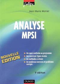 Analyse MPSI : cours, méthodes et exercices corrigés