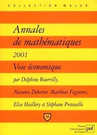 Annales de mathématiques 2001 : voie économique