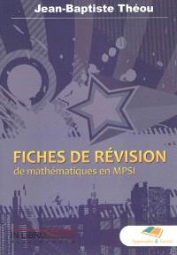 Fiches de révision de mathématiques en MPSI