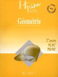 Géométrie : 2nde année PC-PC*, PSI-PSI*