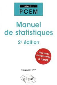 Manuel de statistiques : nouveau programme L1 santé