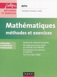 Mathématiques : méthodes et exercices MPSI