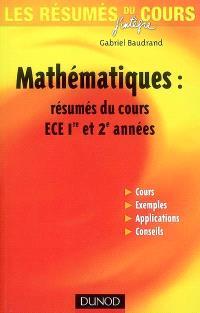 Mathématiques : résumés du cours ECE 1re et 2e années