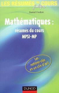 Mathématiques : résumés du cours MPSI-MP