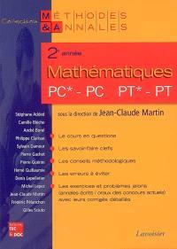 Mathématiques 2e année PC*-PC-PT*-PT