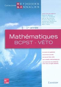 Mathématiques BCPST-Véto : 1re année, licences scientifiques