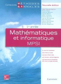 Mathématiques et informatique MPSI : 1re année