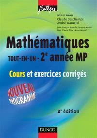 Mathématiques tout en un MP : cours et exercices corrigés