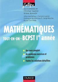 Mathématiques tout-en-un BCPST 1re année : cours et exercices corrigés