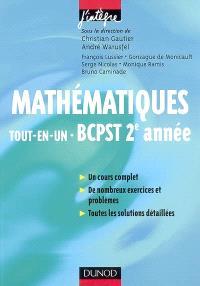 Mathématiques tout-en-un BCPST 2e année : cours et exercices corrigés