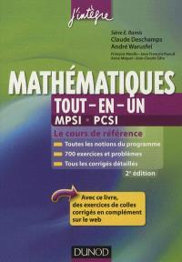 Mathématiques tout-en-un, MPSI-PCSI : cours et exercices corrigés