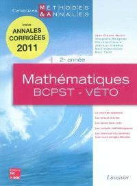 Mathématiques, 2e année : BCPST-véto : licences scientifiques