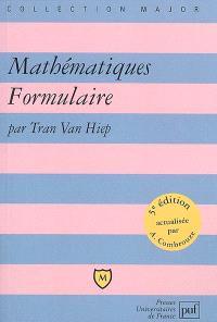 Mathématiques, formulaire