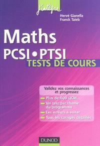 Maths PCSI-PTSI : tests de cours