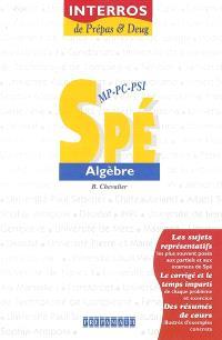 Spé MP-PC-PSI algèbre
