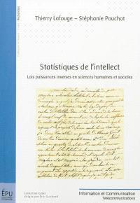 Statistiques de l'intellect : lois puissances inverses en sciences humaines et sociales