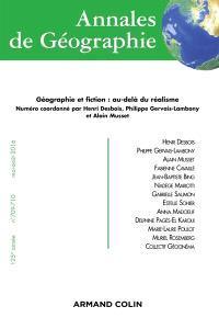 Annales de géographie. n° 709-710, Géographie et fiction : au-delà du réalisme