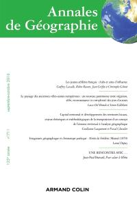 Annales de géographie. n° 711