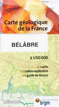 Bélâbre : carte géologique de la France