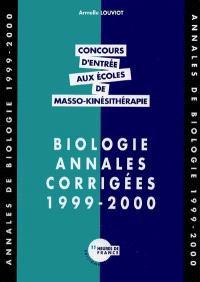Biologie : annales corrigées 1999-2000
