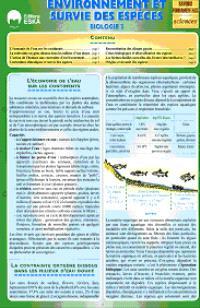 Biologie 3 : environnement et survie des espèces