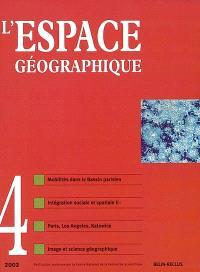 Espace géographique. n° 4 (2002)