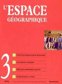 Espace géographique. n° 3 (2005)