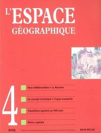 Espace géographique. n° 4 (2005)
