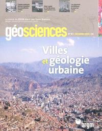 Géosciences. n° 10, Villes et géologie urbaine