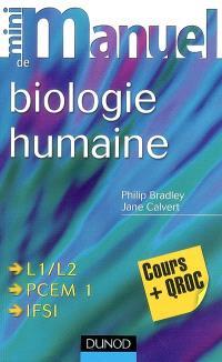 Mini-manuel de biologie humaine : cours et QROC
