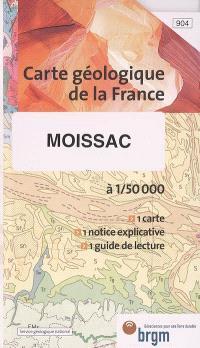 Moissac : carte géologique de la France