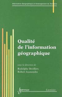 Qualité de l'information géographique