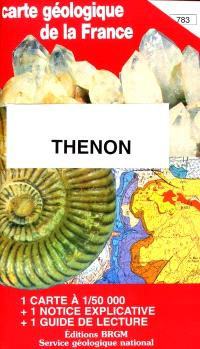 Thenon : carte géologique de la France
