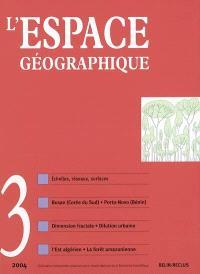 Espace géographique. n° 3 (2004)