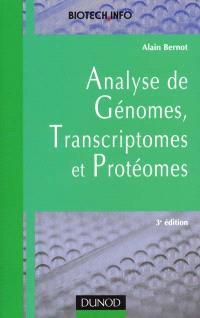 L'analyse de génomes, transcriptomes et protéomes