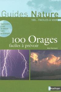 100 orages faciles à prévoir