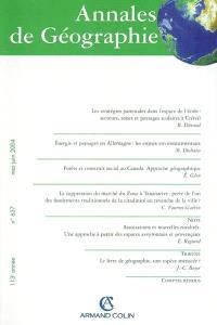 Annales de géographie. n° 637