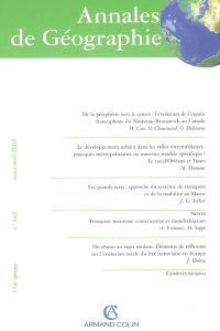 Annales de géographie. n° 642