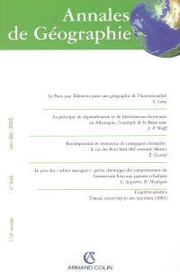 Annales de géographie. n° 646