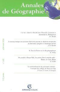 Annales de géographie. n° 650