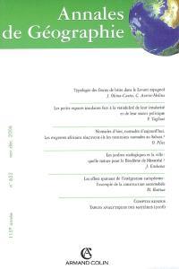 Annales de géographie. n° 652