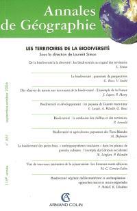Annales de géographie. n° 651, Les territoires de la biodiversité