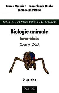 Biologie animale. Volume 1, Invertébrés : cours et QCM
