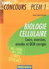 Biologie cellulaire : cours, exercices, annales et QCM corrigés