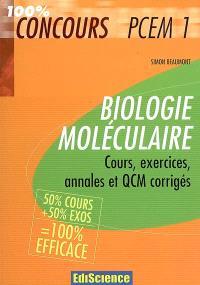 Biologie moléculaire : cours, exercices, annales et QCM corrigés