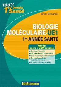 Biologie moléculaire L1 Santé : cours, QCM et annales corrigés