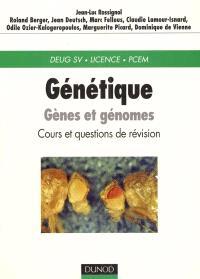 Génétique : gènes et génomes, cours et questions de révision : DEUG SV, Licence, PCEM