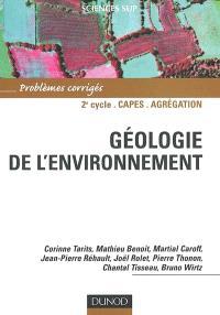 Géologie de l'environnement : problèmes corrigés